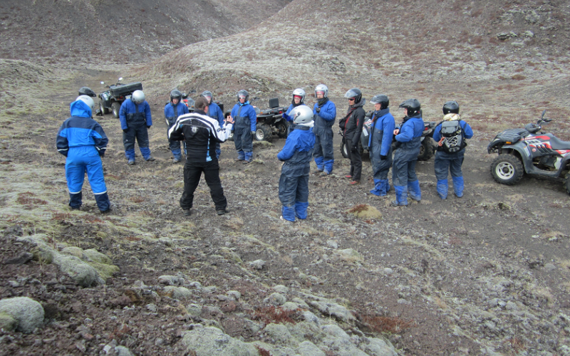 ATV/Quad bike tour into the pseudo craters